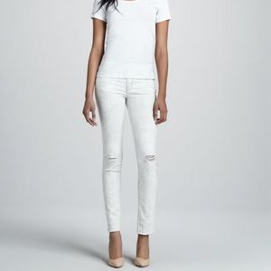 Jbrand white distressed jeans! Hysteria